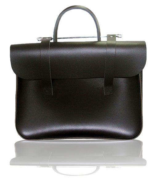 Music Case in Black Leather