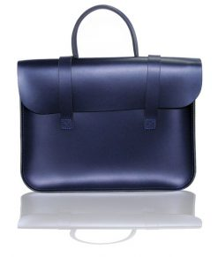 Music Case in Navy Blue Leather