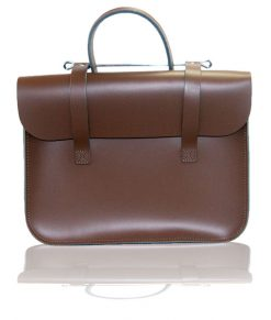 Music Case in Chestnut Brown Leather