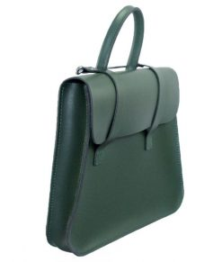 Music Case in British Racing Green Leather