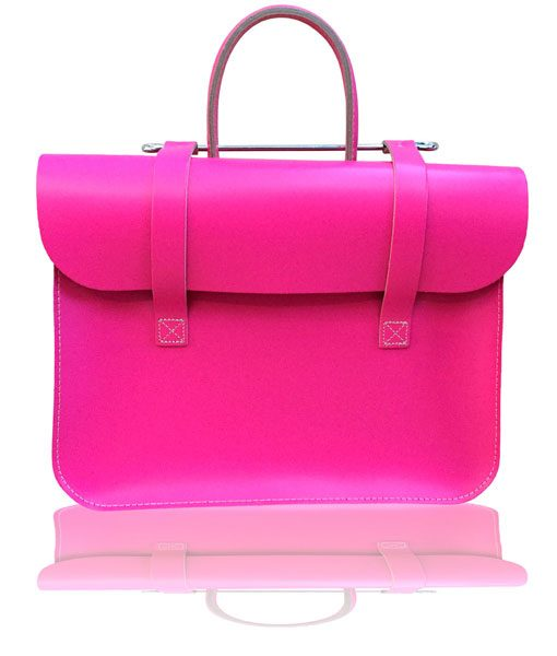 Music Case in Pink Leather