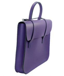 Music Case in Purple Leather