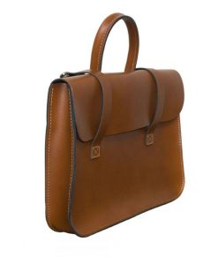 Music Case in London Tan Leather