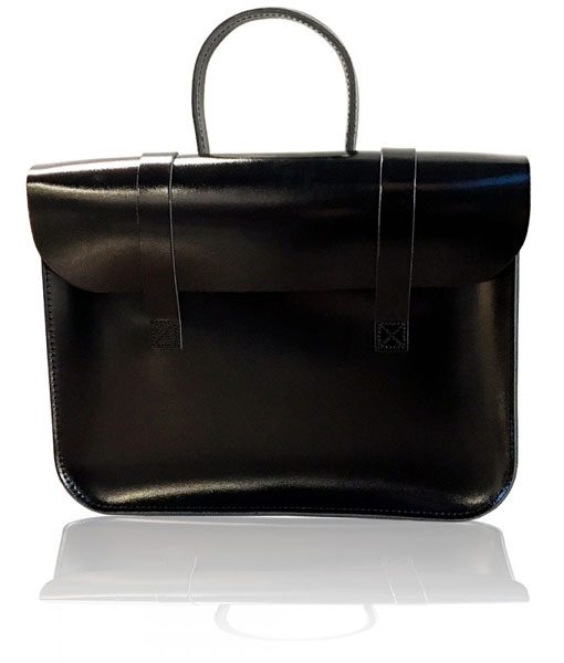 Music Case in Patent Black Leather
